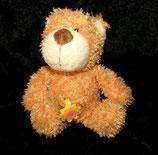 NICI Honigbär mit Blume 16 cm