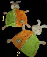 Babydream / ROSSMANN Schmusetuch Hase  orange / grün