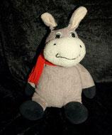 Althans Club Kuscheltier  Esel  mit rotem Schal