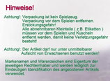 ABC / SIMBA Schmusetuch Schmetterling / Käfer auf  rotem Mond / Sterne