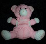 "Knautschi / Puffalump Teddy / Bär rosa   "" Du bist ein Engel  """