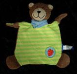 Ravensburger Schmusetuch Butz Teddy / Bär getreift Erdbeere