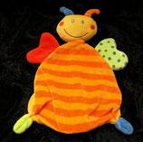 Nicotoy / Baby Club Schmusetuch Schmetterling orange Streifen