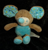 KIK   Kuscheltier Maus blau sterneS