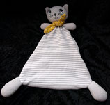 H&M Schmusetuch Katze grau / weiß getreift