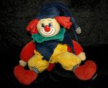 Sterntaler Spieluhr Clown / Harlekin gelber Anzug Mütze blau