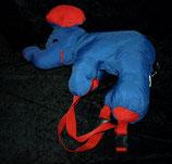 Euro Play Knautschi / Puffalump  Rucksack Elefant blau / rot NEU