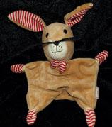 Sterntaler Schmusetuch Hase rot weiß getreift
