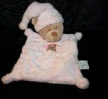 Nicotoy / Baby Club Schmusetuch Bär / Teddy rosa   Fenster