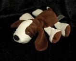 H&M Hund liegend dunkelbraun / weiß liegend