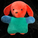 Sterntaler Spieluhr  Hund Nicki blau / grün / rot schon älter