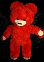 70er 80er Jahre Teddy / Teddybär  DDR? rot