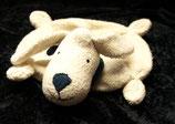 FEHN Schmusetuch liegender Hund beige / blaues Halstuch
