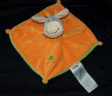 KIK Hase  Schmusetuch Esel orange Kleeblatt