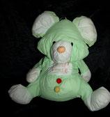 """Knautschi / Puffalump  Teddy / Bär grün  """" DU BIST DER BESTE """"  RAR"""