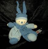 baby FEHN Schmusetuch Wichtel / Puppe weiches Frottee blau