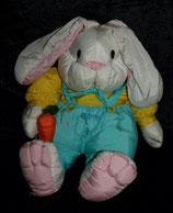 Knautschi / Puffalump  dicker sitzender  Hase mit Möhre 1993