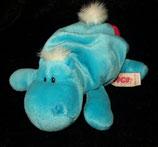 NICI Nilpferd / Hippo   Bud Belly / Herz / Love liegend  16 cm  blau