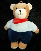 Sterntaler Spieluhr als Teddy / Bär blau Nicki Halstuch rot