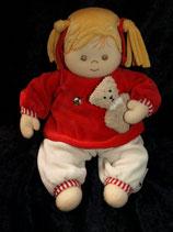 Sterntaler Spieluhr Puppe Magdalena rot wie NEU
