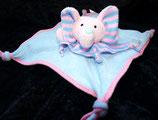 SIMBA Schmusetuch Elefant rosa /hellblau