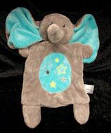 Nicotoy / Baby Club Schmusetuch Dumbo türkis / grau