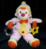 Toy Company  / Puppe Harlekin / Narr / Clown  bunt
