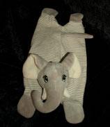 H&M Elefant  Schmusetuch grau / gestreift liegend