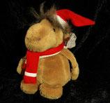 NICI  Kamel als Weihnachtsmann mit Mütze und Rucksack