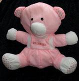 """Knautschi / Puffalump Teddy / Bär rosa   """" Ich liebe Dich """""""