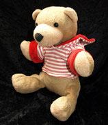 Sterntaler Spieltier Bär Berti Nicki rot weiß groß