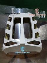 TAP2)PUNTALE COPRI RADIATORE - RADIATOR COVER -  Kühlerverkleidung sabot monteur  HARLEY DAVIDSON V-ROD  DAL 07-->