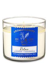 3-Docht Duftkerze Lavender Cedarwood  Aromatherapie