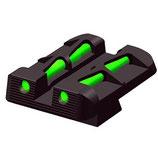 HIVIZ Litewave Mira Posteriore in Fibra Ottica per Glock cal 9mm/40S&W/357sig (eccetto43) GLLW15