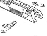 Beretta Pezzi di Ricambio: Fig. 14 Sicura - leva Dx e Sx 92/96/98