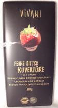Kuvertüre Feine Bitter, Bio, 200 g, Tafelformat, 100g = 1,50 €