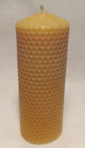 Kerze, Stumpen in Wickeloptik, 100% Bienenwachs
