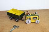 Traktor mit Anhänger aus Blech
