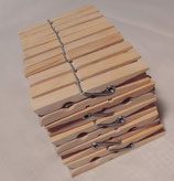 Wäscheklammern, Holz, Buche, 50 Stück, 12,5 cm