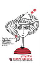 Maglietta Teatro abitato femminile