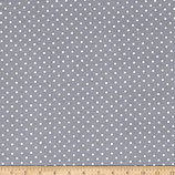 Popeline Baumwolle - Punkte basic dunkelgrau