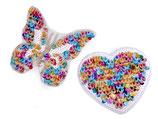 Aufbügler - Applikation Herz/Schmetterling mit Pailletten