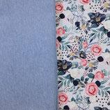 Stoffpaket Jersey - Blumenparadies  / Bündchen