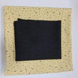 Stoffpaket Jersey - Gemustert Jersey gelb / Bündchen schwarz