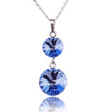 Marea Crystal - Kette - Lighte Sapphire Kristall