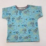 T-Shirt Kurzarm -  hellblau mit Safaritieren