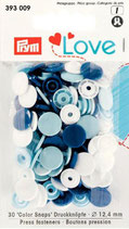 Prym Love Druckknopf - Blau-Mix