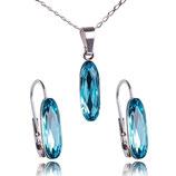Marea Crystal - Baguette Light Türkis -Set