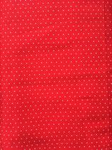 Popeline Baumwolle - Punkte basic rot