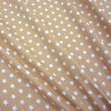 Popeline Baumwolle - Sterne basic beige